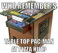I have a vintage 80s tabletop Miss Pacman from The Pizza Hut in Seminole, Florida.