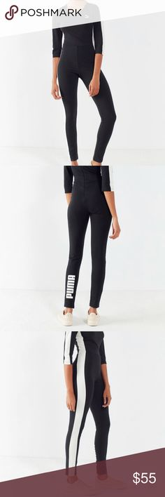 PUMA Bodycon jumpsuit Black puma jumpsuit. Authentic. No trades. Puma Pants Jumpsuits & Rompers