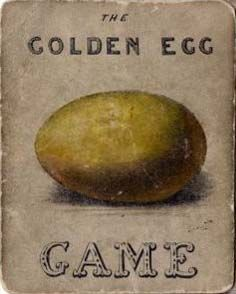 inspiration for aged antique background feeling...Antique card from game 'The golden egg'