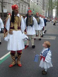 Greek Independence Day Parade in Avenue, NYC ~ March 2014 Greek Independence, Independence Day Parade, Albania, Mykonos, Santorini, Greek Blue, Greek History, Greek Culture, Folk Costume