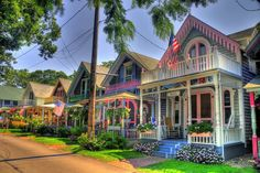 Martha's Vineyard, Cape Cod- Take a day trip on the ferry to see the gingerbread houses-worth the trip!