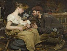 master-painters:    Jean-Eugène Buland -  Bonheur des parents - 1903