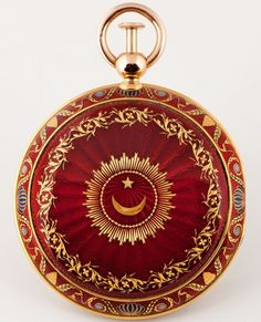 Breguet acquires a famous Turkish watch gold designs over red guilloche enamel