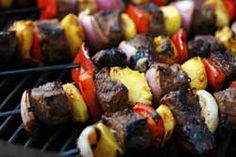 #Viking USA  Grilled Sirloin and Peach Skewers