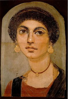 "Portrait of a young woman. ""Fayum mummy portraits in the Ägyptisches Museum Berlin"" a.d. 70."