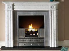 Regent 57 Fireplace Mantel in Carrara Marble