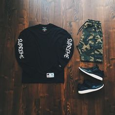 WEBSTA @ raadius - ...400 years later we buyin are own chains  (items tagged)• Supreme x Champion LS• Zara Camo Cargo Sweat Shorts• Y3 Retro Boost