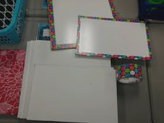 Line the edges of individual whiteboards with patterend duct tape to make them cute. SO doing this!!!