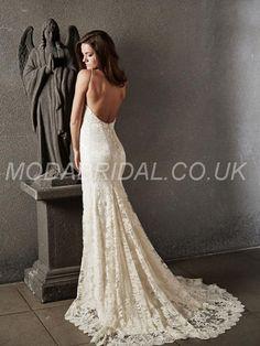 modabridal.co.uk SUPPLIES Vogue Backless Sweetheart Elegant & Luxurious All Sizes Hall Floor-Length Lace Winter Wedding Dress WEDDING DRESSES