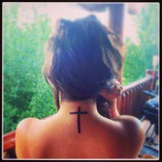Cross tattoo, I like the simplicity