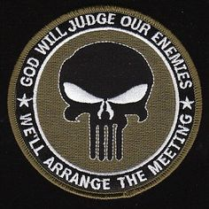 God Will Judge Our Enemies - Another Punisher Themed Patch.