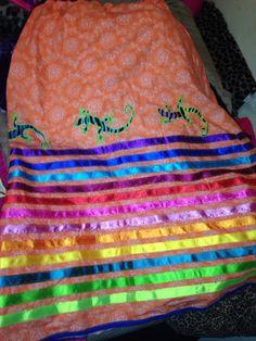 My lizard ribbon skirt