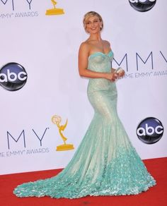 Julianne Hough at the 64th Primetime Emmy Awards at the Nokia Theatre LA Live. #redcarpet #celebrity #gown