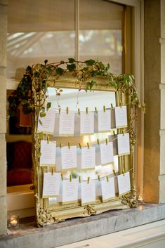An elegant, floral infused table plan at Tankardstown House captured by Christina Brosnan.