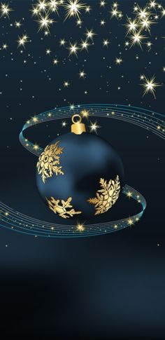 Wallpaper… By Artist Unknown… – boom Blue Christmas, Christmas Pictures, Christmas Holidays, Christmas Bulbs, Christmas Cards, Christmas Decorations, Holiday Decor, Xmas, Winter Wallpaper