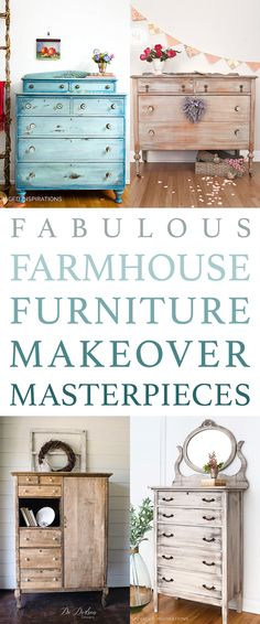 Fabulous Farmhouse Furniture Makeover Masterpieces - The Cottage Market