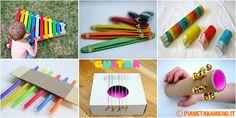 Ecco come realizzare ben 20 strumenti musicali fai da te per bambini da costruire con materiali di riciclo, legno e poco altro, da fare in casa o a scuola