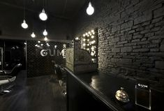 Gum hair salon, Milan store design