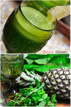 Suco Verde DETOX, ajuda na limpeza do organismo, beneficia a redução de peso, melhora a textura da pele e dos cabelos, ajuda no combate ao envelhecimento
