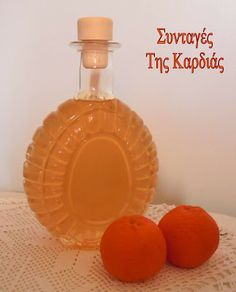 ΣΥΝΤΑΓΕΣ ΤΗΣ ΚΑΡΔΙΑΣ: Λικέρ μανταρίνι Sweet Cooking, Cooking Time, Whole Food Recipes, Cooking Recipes, Chocolate Fudge Frosting, Easy Sweets, Food Crafts, Food To Make, Food And Drink