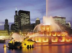 On New Year's Eve, December Brian Mack kneeled here at Buckingham Fountain and asked me to be his wife. Buckingham Fountain, Chicago Hotels, New Years Eve, Niagara Falls, Architecture, City, Building, Travel, Leather Belts