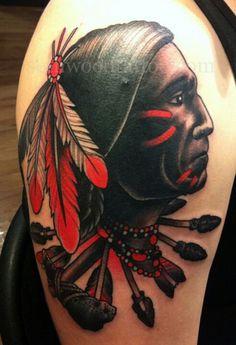 Native American Man Tattoo.