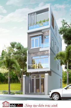 Sử dụng màu trắng làm chủ đạo, nhưng kiến trúc sư đã khéo léo tạo điểm nhấn cho ngôi nhà bằng các mảng màu đan xen, màu nâu của gỗ kết hợp tinh tế với màu xanh của cây cỏ, mang đến vẻ đẹp hài hòa và tươi mát cho mẫu nhà phố.