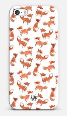 Foxes iPhone case by @wonderforest