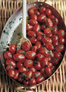 Barefoot Contessa - Garlic & Herb Tomatoes....for when there is a bumper crop of cherry tomatoes next summer