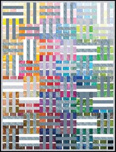 Free Pattern - Watercolor Palette Quilt by Linda Fitch