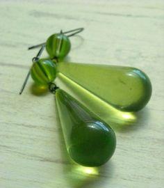 grass earrings one of a kind by urbanlegend on Etsy