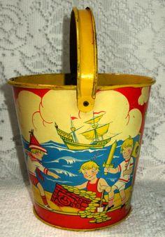 vintage sand pail