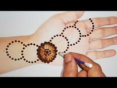 Mehndi Design for Hand by Shab's Creation Easy, Simple and Stylish Mehndi Design for Hands. Cotton Buds and Gol tikki Mehndi Design Trick. Back Hand Mehndi Designs, Mehndi Designs For Girls, Mehndi Designs For Beginners, Unique Mehndi Designs, Wedding Mehndi Designs, Beautiful Henna Designs, Mehndi Designs For Fingers, Latest Mehndi Designs, Simple Mehndi Designs