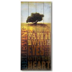 Faith by Artist Cory Steffen Wood Sign