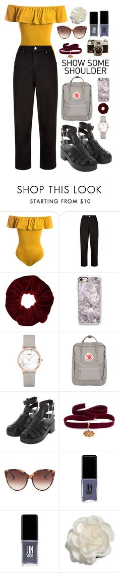 """""""only one thing is yellow"""" by paaulaan ❤ liked on Polyvore featuring Sans Souci, Jaeger, Miss Selfridge, CLUSE, Fjällräven, Diego Percossi Papi, Linda Farrow, JINsoon and Cara"""