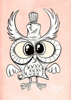 Owltober - Owl Glue by *Themrock on deviantART