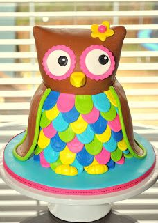 Sculpted cakes are my absolute favorite cakes to create. 5th Birthday Cake, Owl Birthday Parties, Birthday Stuff, Birthday Ideas, Owl Cakes, Cupcake Cakes, Cupcakes, Owl Treats, Sculpted Cakes