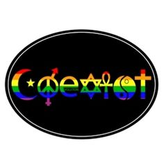 Coexist Car Magnet | ThatGaySite.com, Gay Pride Rainbow Coexist Car Accessory