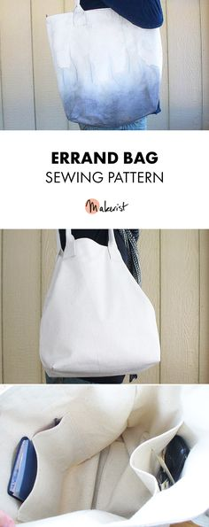 Errand Bag - Sewing Pattern via Makerist.com  #sewingwithmakerist #sew #sewing #sewkindofwonderful #sewingpattern #sewinginspiration #diy #handmade #homemade #sewingprojects #sewingtutorial #bags #shoppingbag