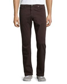 AG Adriano Goldschmied Mens Graduate Tailored Leg Pants SUD Brown 33x34 NWT $178 #AGAdrianoGoldschmied #CasualPants