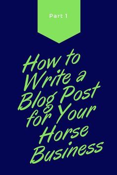 You're doing it. You're writing a blog post. But...how do you do that? Keep reading.