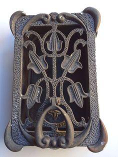 Antique Cast Craftsman Tudor Arts Crafts Tulip Door Knocker Viewer Speakeasy  sc 1 st  Pinterest & Vintage Brass Speakeasy Door Knocker Peephole Window Viewer | Doors ...