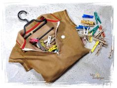 [Anleitung] Wäscheklammerbeutel aus einem alten Poloshirt nähen (einfach & schnell)