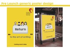 #sydney #writers festival #redesign #vector #graphics #design #illustration #yellow #people #brand identity #logo #emchengillustration #train #touchpoints
