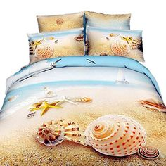 Beach Duvet Covers!  HUGE LIST of Beach Themed Duvet Covers to Complete the Bedroom in your Beach Home.  Check out coastal bedroom decor that is great to upgrade your house.