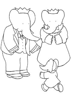 10 Best Babar Coloring Page images | Coloring pages ...