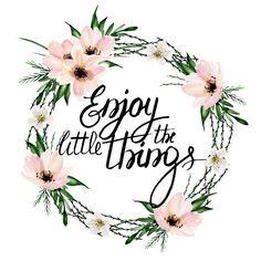 Enjoy the little things. Watercolor wreath Art Print by Julia Badeeva | Society6