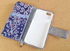 #029 chibichaso様専用 デニムリメイクiPhone6Plusカバー《送料込》 Phone Cover, Smartphone, Craft, Handmade, Hand Made, Creative Crafts, Do Crafts, Needlework, Crafting