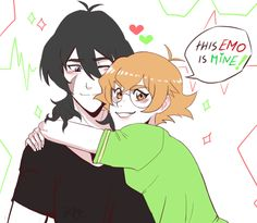 This Emo Is Mine- Pidge and Keith from Voltron Legendary Defender