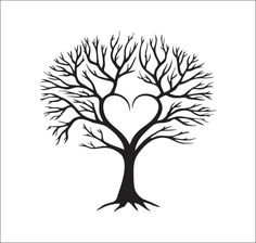 Árbol corazón familiar vector descarga digital inmediata corte